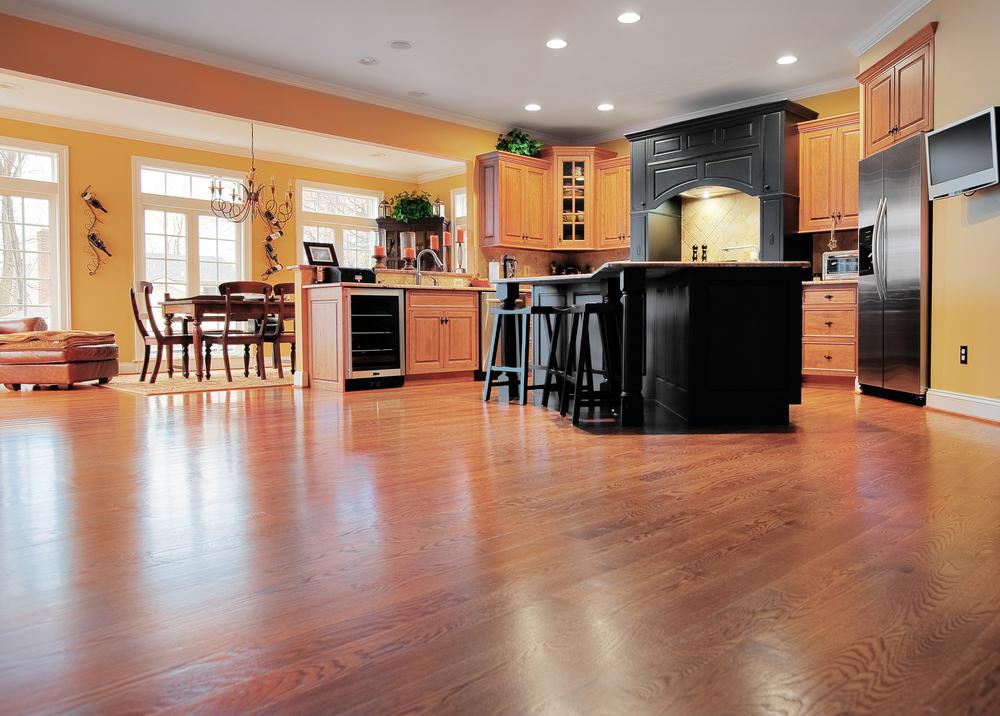 Home interiors with engineered hardwood flooring