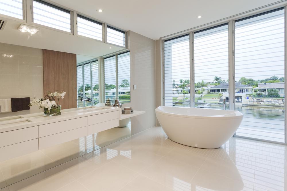 Luxury floor with traditional white flooring