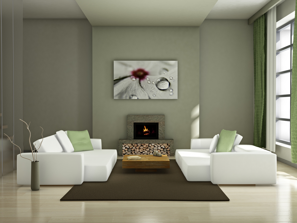 Modern living drawing room with new flooring trend