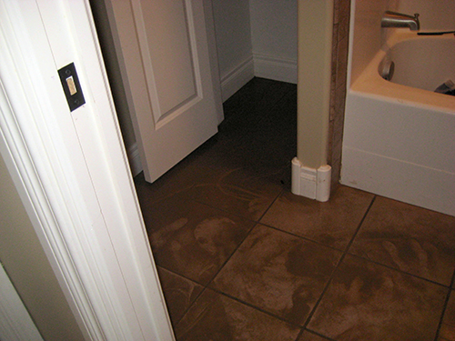 Water Damage To Bathroom Floors