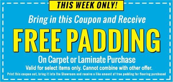 Free Padding Promo