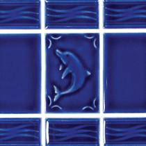 Aquatica Dolphin Mosaic - Blueberry