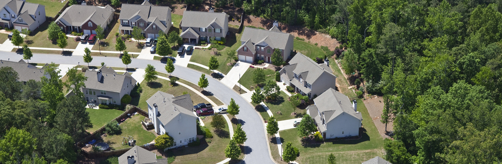 Aerial neighborhood view