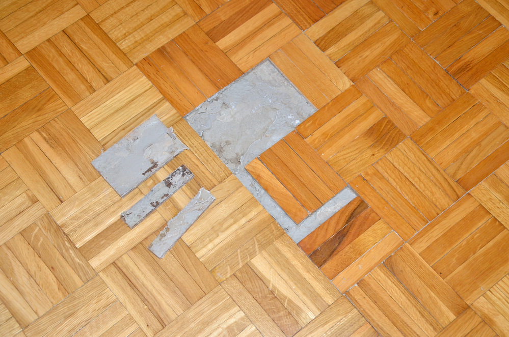 Damaged flooring