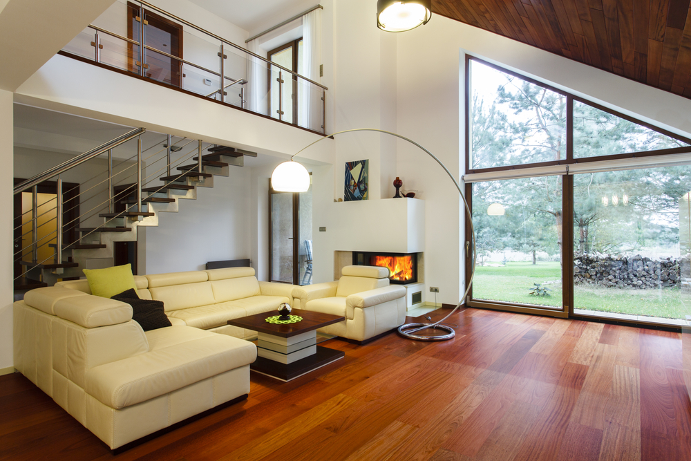 Interior of a house with entresol
