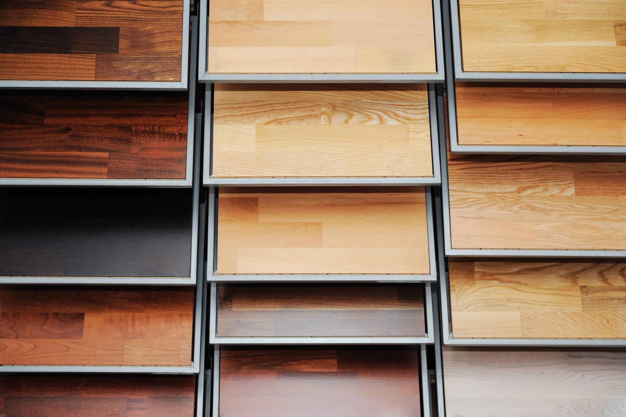 Color palette for wooden flooring