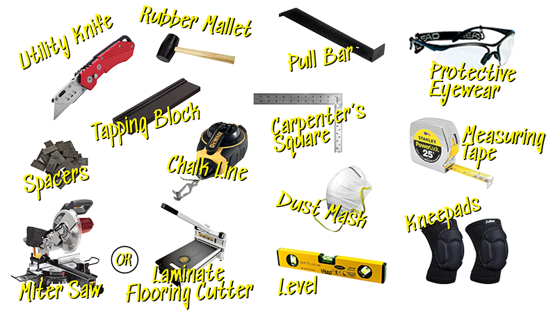 Tools needed to install flooring