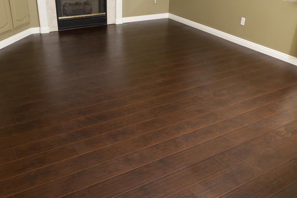 Newly installed laminate flooring
